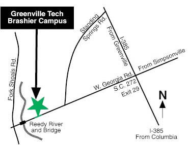 Campus Map Georgia Tech.Brashier Campus Map Directions Greenville Technical College