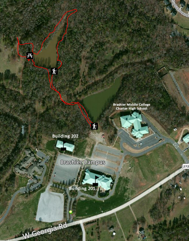 shier-trail Illiois Greenville College Campus Map on