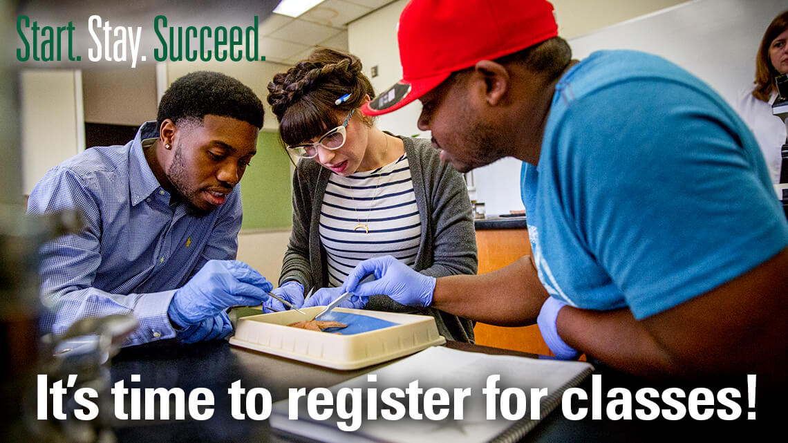 Time to register for classes