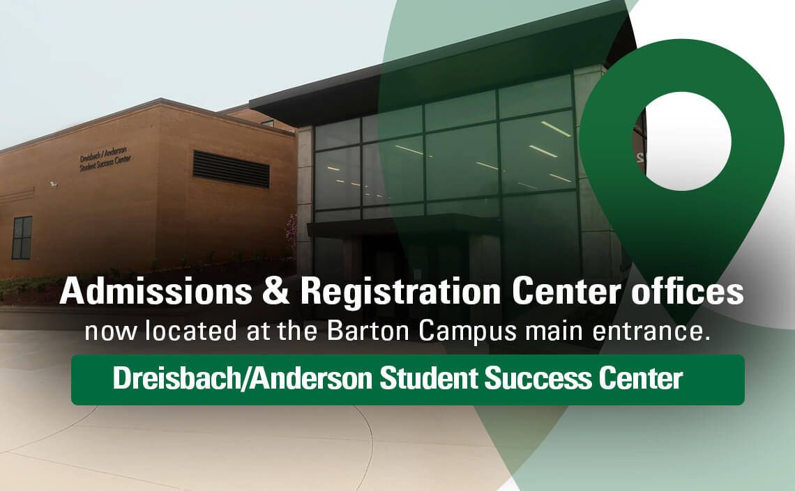 Admissions and registration services have moved to the new Student Success Center
